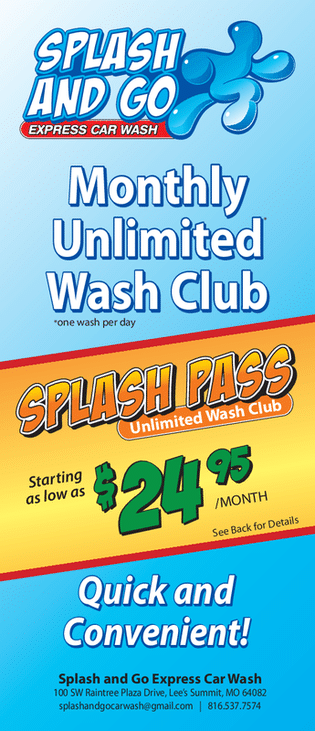Monthly Membership Car Wash Packages