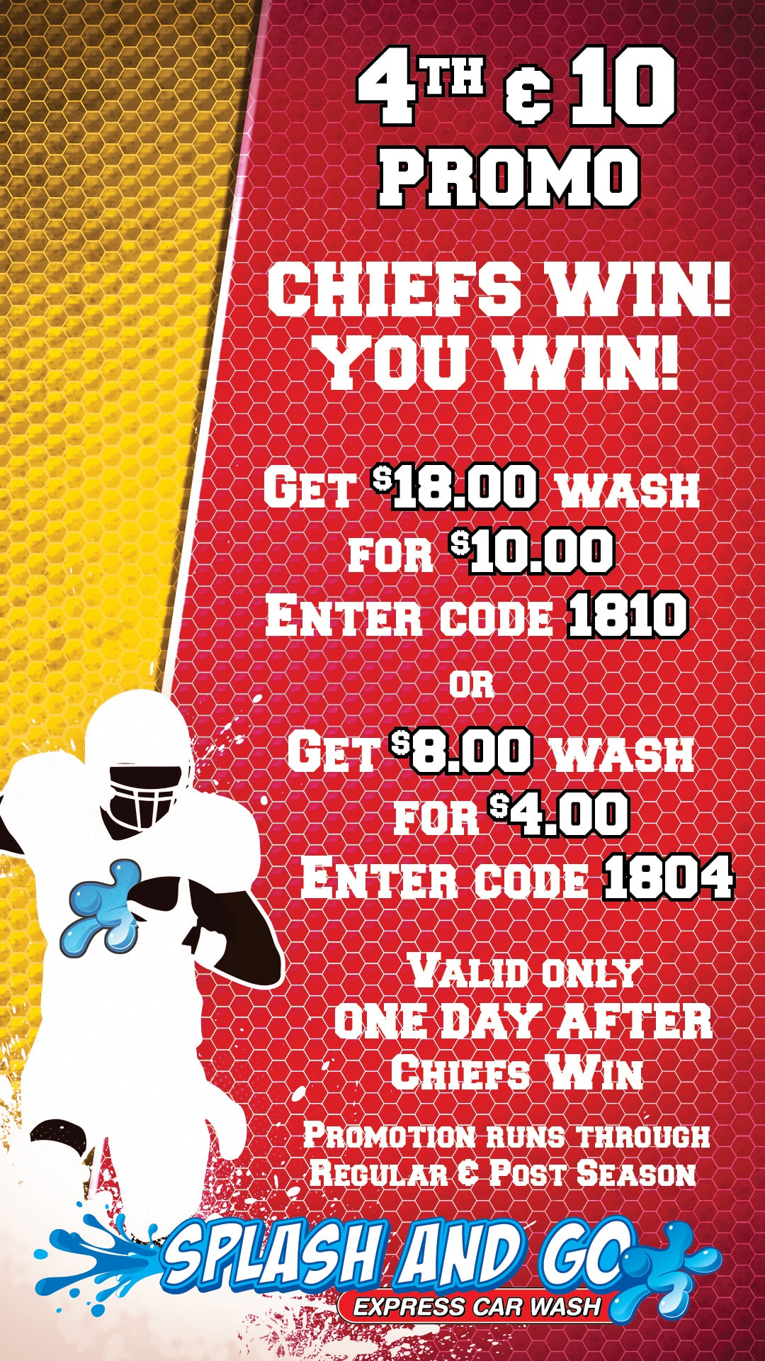 Car Wash Promotion - Kansas City Chiefs
