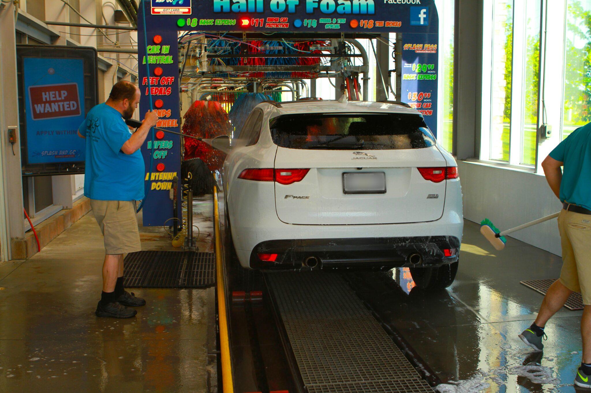 automatic car wash tunnel