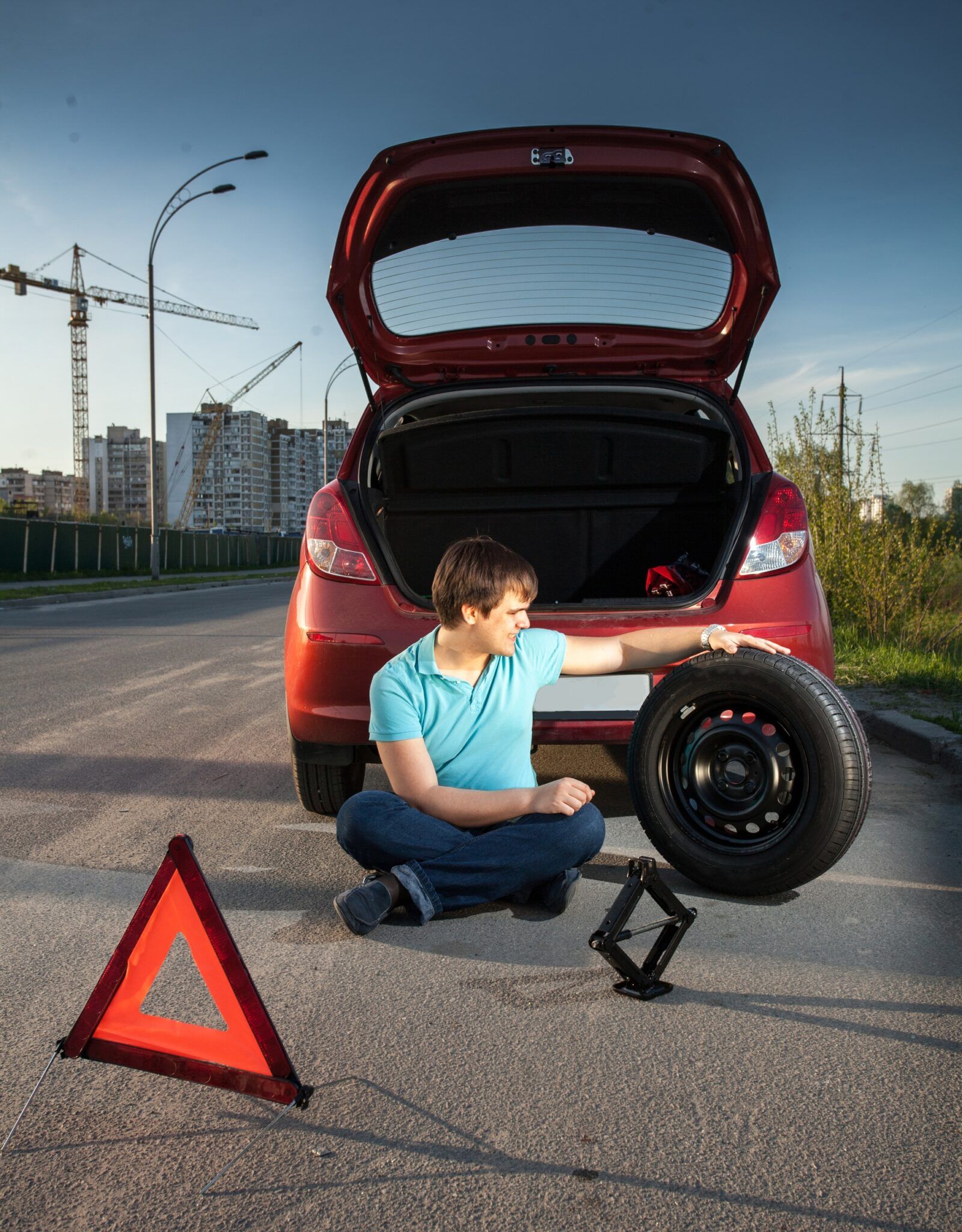 road safety triangles essential things to keep in your car