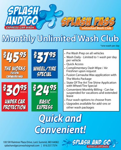 Monthly Unlimited Car Wash Pass