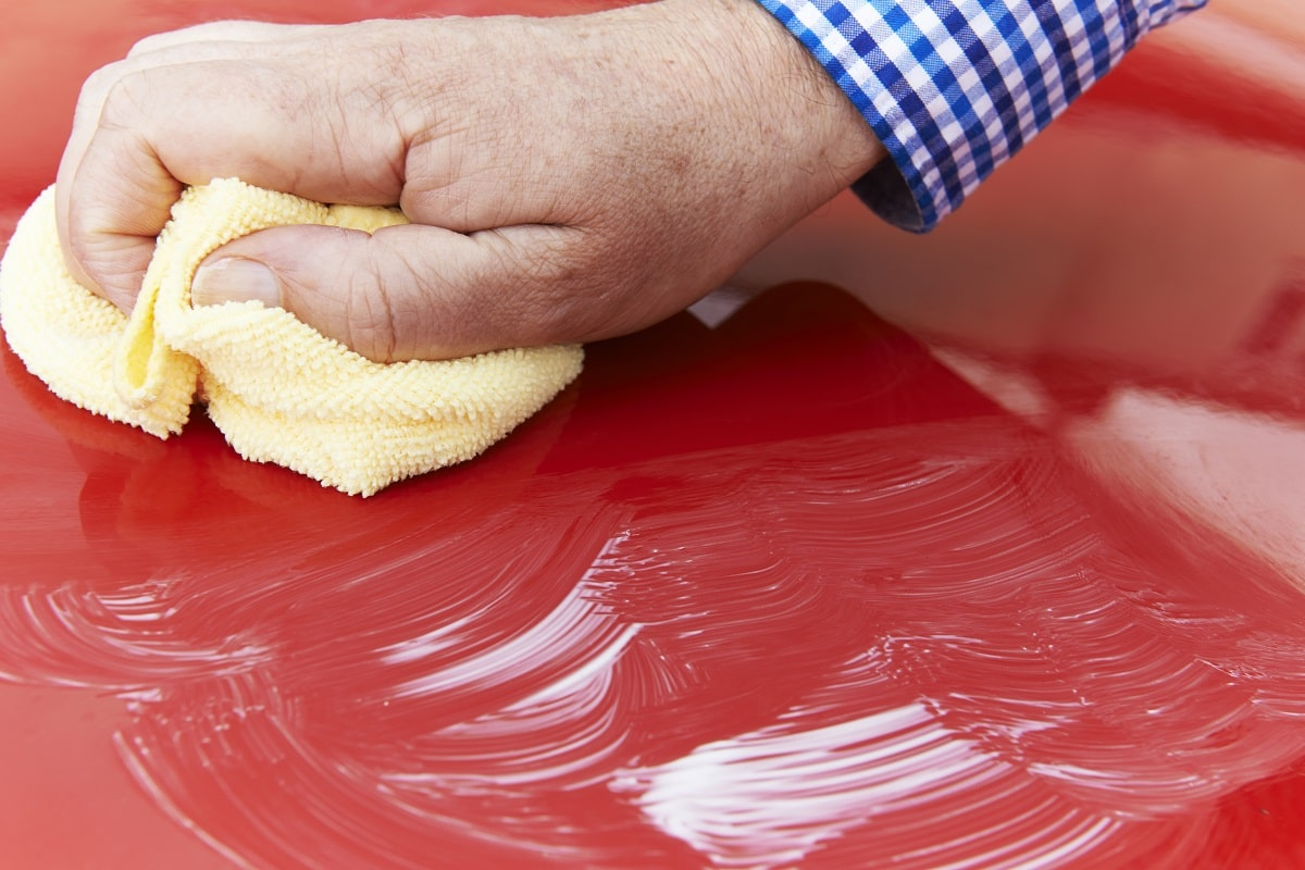 waxing your car by hand